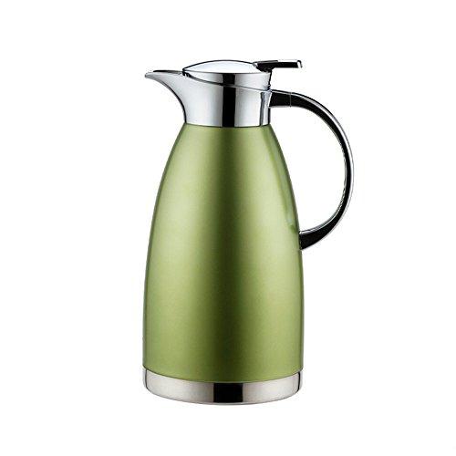 Haosen 1,8 Liter Edelstahl Doppelschicht Vakuum kaffeekanne Haushalt thermosflasche Europäischen Stil thermosflasche - Heiß und kalt dual Gebrauch (Matte Grün)