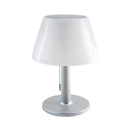 Sun-Light - Lampada da tavolo a LED a energia solare, senza fili, con batteria, per interni ed esterni, colore: Bianco