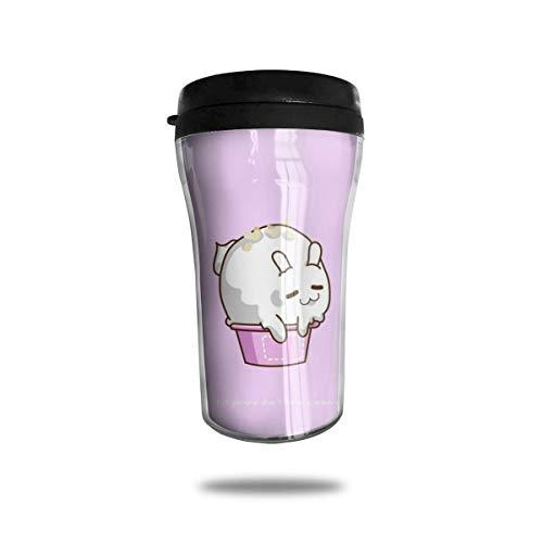 Hase in der Wanne Reisen Kaffeetasse 3D gedruckt tragbare Saugnapf, isolierte Teetasse Wasserflasche Becher zum Trinken mit Deckel 8,54 oz (250 ml)