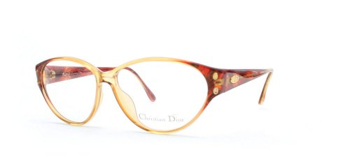 Christian Dior Damen Brillengestell Braun Braun/Rot