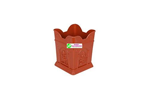 Easy Gardening Tulasi/Tulsi Pot (Small) Terracotta Color Planter