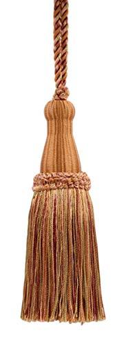 DecoPro décoratifs 14 cm Key Tassel, Camel Doré, Rose pâle, Citrouille, Terre Cuite, Style # Ktc055 Couleur : Sable du désert – Pr21