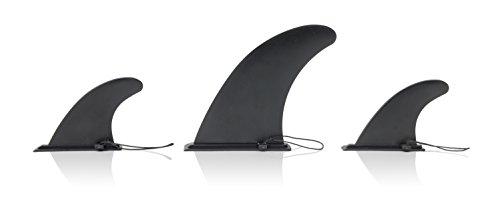 Ten Toes Board Emporium Ersatzflossen für Stand-Up-Paddelboard - Schwarz, Einheitsgröße