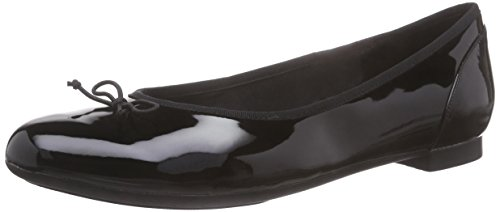 Patent Ballerinas Schuhe (Clarks Couture Bloom, Damen Ballerinas, Schwarz (Black Patent), 41 EU (7 Damen UK))