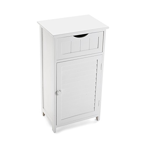Versa 20100031Schrank Badezimmer, Holz, Weiß, 40x 29x 76cm