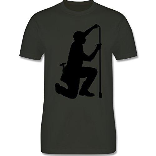 Handwerk - Zimmermann - Herren Premium T-Shirt Army Grün