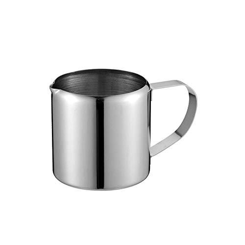 Y·z 5 Stück Kaffee Latte poliert Restaurant Küche Catering Supplies Zubehör Glas mit Griff Creme Zucker Milchtopf @ A - 5 Unze-körper-milch