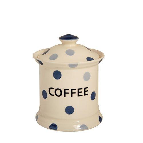 Blue Spot Fairmont & Main Lot de 2 pots à café en faïence Crème/bleu