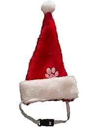 Hund Weihnachtsmütze mit Gummiband Nikolausmütze Hund Santa Mütze Dog Für große Hunde