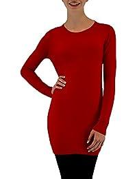 S&LU toller, warmer Damen Longpullover mit Rundhals-Ausschnitt in verschiedenen Größen und Farben