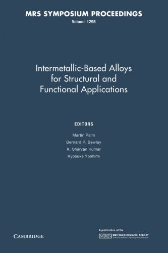 Intermetallic-Based Alloys for Structural and Functional Applications: Volume 1295 (MRS Proceedings)