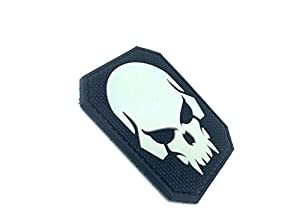Pirate Crâne Noir Airsoft Velcro PVC Patch
