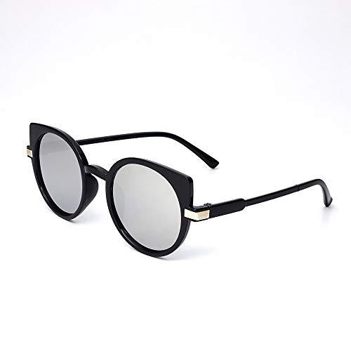 QDE Sonnenbrillen Frauensonnenbrillen Retro Ocean Sunglases Fahren Polarisierte Sonnenbrillen, Black White Mercuyy