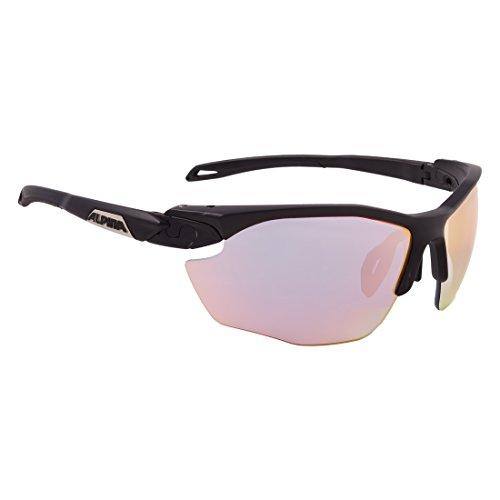 ALPINA Erwachsene Twist Five HR QVM+ Sportbrille, Black matt, One Size