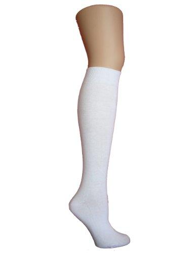 Chapini®, Damen Kniestrümpfe, weiß