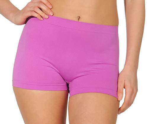 simaranda 6er Pack Damen Slips Seamless Unterwäsche Panty Boxershorts Unterhose Microfaser 20 (XL/XXL, Farbig) - 7