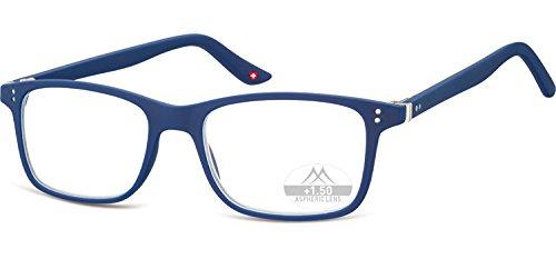 Montana Eyewear Sunoptic MR72B Lesebrille inklusive Soft Etui, blau / +1.5 Dioptrien
