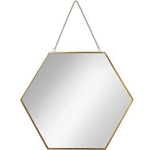GUOWEI Spiegel Wandspiegel Hängespigel Badezimmer High-Definition Metall Eingerahmt Make-up...