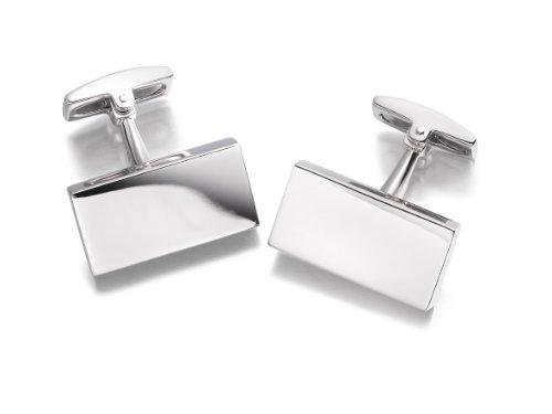 Hoxton London Herren Sterling Silber Einfache Rechteckige Manschettenknöpfe