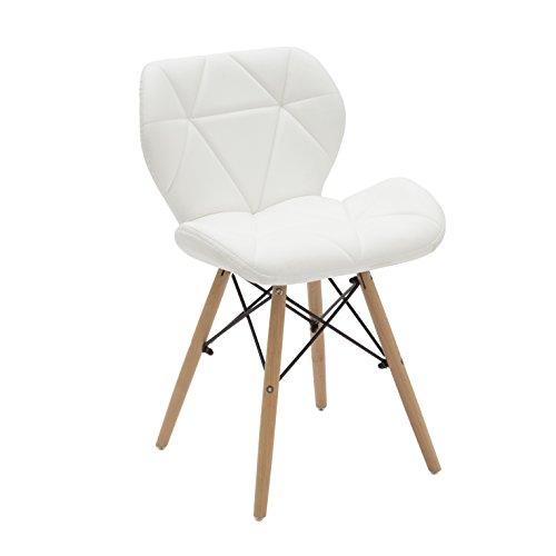 White loft Set di 2 Sedie, Legno, Bianco, 48x54x72 cm