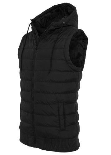 Urban Classics Small Bubble Hooded Vest, black/black, L - Herren Bubble Vest