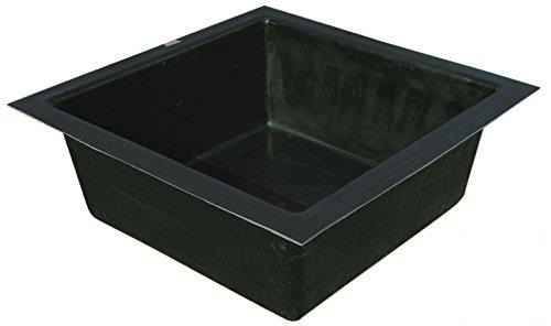 GFK Teichbecken quadratisch 100/100 cm 200 ltr. Quadratbecken Springbrunnenbecken Becken