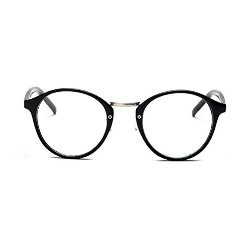 1920s Nerd Brille filigran rund Glasses Klarglas Hornbrille treber CASW0077 Black