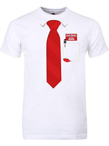 Verkaufsberater Männer T-Shirt weiß. Inspiriert von Shaun of the (Shaun Dead The Kostüm Of)