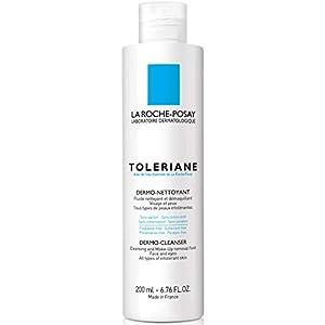 La Roche Posay Toleriane Dermolimpiador- Fluido limpiador y desmaquillante, 200 ml