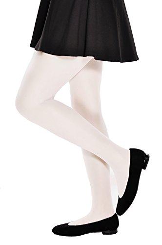Mädchen Heilige Kommunion Strumpfhose schier und halb-undurchsichtig weiß, ecru Größen 8-13 Jahre von Aurellie