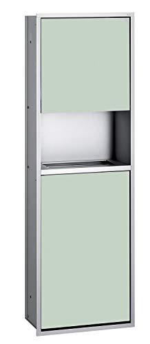 Emco Asis 300 Unterputz Papierspender mit Abfallsammler, Einbauschrank, Chrom/schwarz, Türanschlag wählbar - 975227951