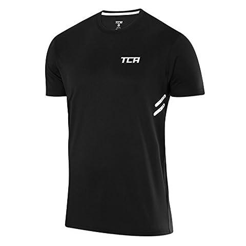 Men's TCA Laser Tech Lightweight Training Top - Black - L