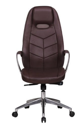 Leather Executive office Chair brown Computer Work Desk high Back Furniture New