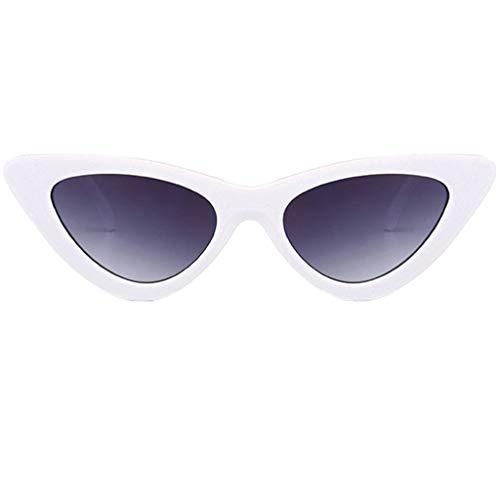 Lazzboy Damenmode Cat Eye Shades Sonnenbrillen Integrierte UV-Bonbonfarbene Gläser(G)