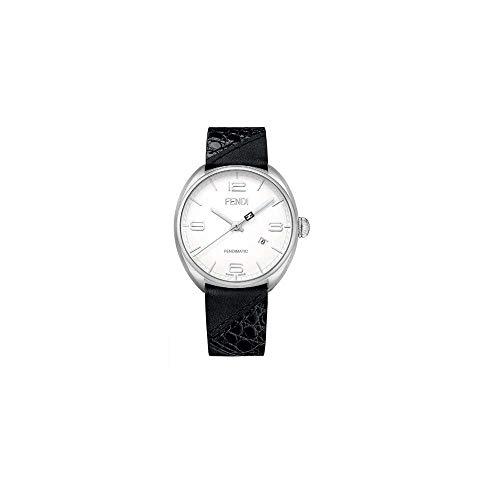 Fendi Momento White Dial Leather Strap Men's Watch F202014011