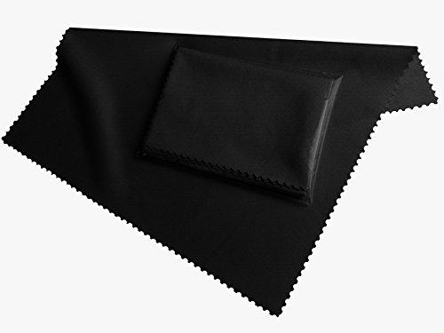 XAKii® HighTech Microfaser Display Reinigungstuch 20x19 cm in schwarz, für alle Smartphones, Kameras, Tablet PCs - Displaytuch Clean - Bildschirm Tuch