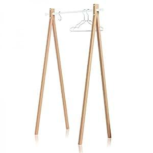 Portant en bois Nomess - Blanc 90 cm