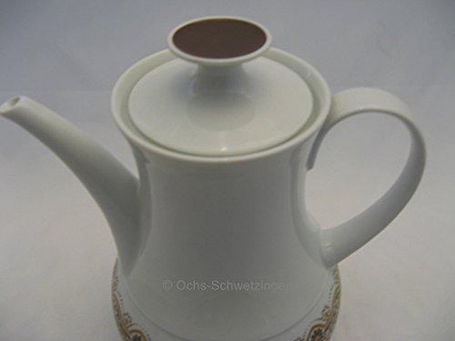 Thomas Porzellan: Kaffeekanne braun / weiß für 6 Personen - 70er Jahre Retro