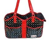 Freedog FD1000154 - Transportin/bolso, para perro y gato, color negro/rojo