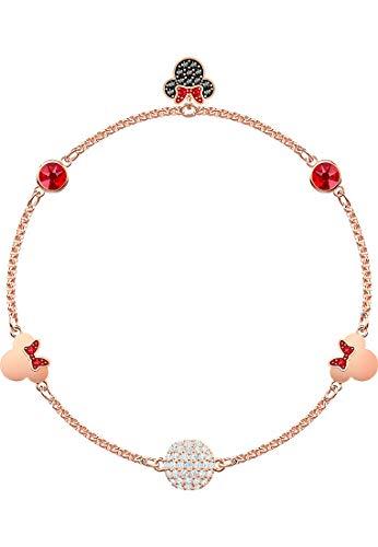 Swarovski Damen-Strangarmbänder Edelstahl Kristall (Disney Armband)