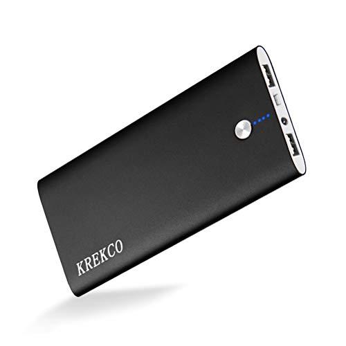 KREKCO Power Bank 20000mAh Caricatore Portatile Batteria Esterna Alta capacità Ultra Sottile Torce a LED Caricabatterie Compatibile con Cellulare Phone & Tablet PC, Dispositivi