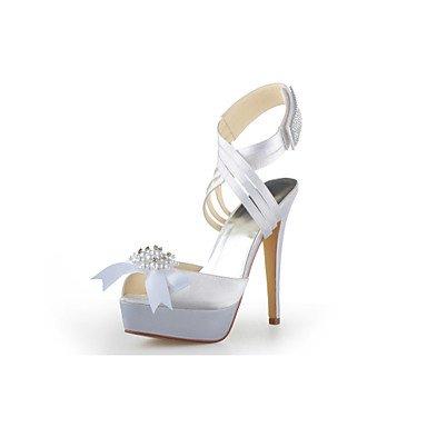 RTRY Donna Primavera Estate Autunno Inverno Platform Cinturino Alla Caviglia Satin Wedding Stiletto Heel Platformblack Blu Porpora Rosa Rosso Bianco Argento Oro US7.5 / EU38 / UK5.5 / CN38