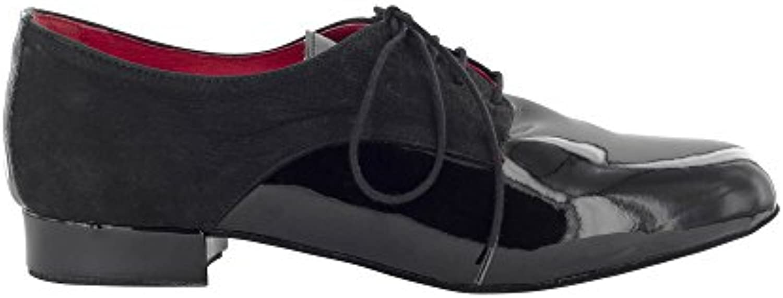 Scarpa da Ballo Stringata in Vernice e Nabuck Nero, Modello Derby, Tacco 2,5 cm | Di Alta Qualità E Poco Costoso  | Sig/Sig Ra Scarpa
