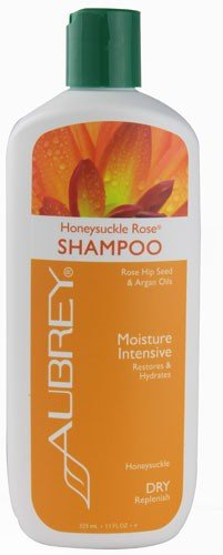 Aubrey Organics - Shampooing Hydratant pour Cheveux Secs et Cassants - Chèvrefeuille Rose - 325 ml