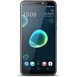 HTC, Desire 12+, Smartphone débloqué, 4G, (6 Pouces, 32Go, Nano Sim et microSD, Android 8.0) Noir