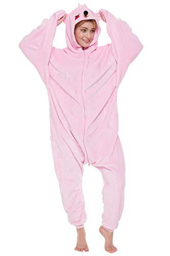 65f9ecdea6ad85 corimori - 1852 - Tiffany the Flamingo One Piece Onesie, Hooded Jumpsuit  for Adults, Women Men, Winter Kigurumi, 160 - 170 cm