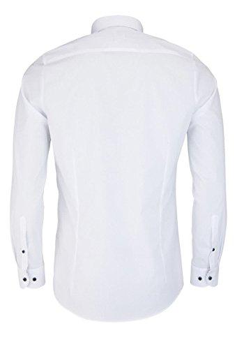 OLYMP Level Five body fit Hemd extra langer Arm weiß AL 69 Weiß
