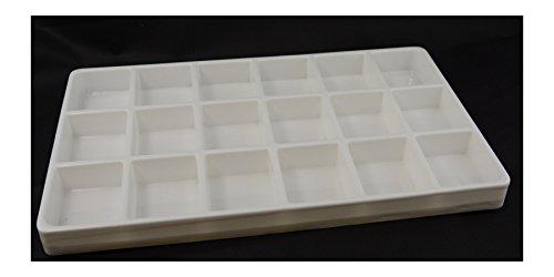 5 X bianco 18 scomparti, resistenti, teglie, impilabile, in plastica, leggero