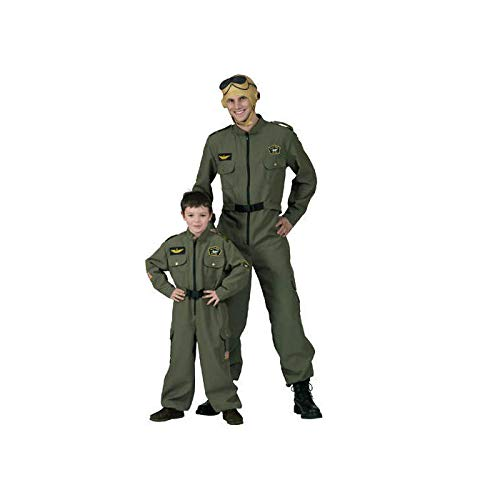 Party Discount ® Herren Kostüm Pilot, Overall in grün (56/58)