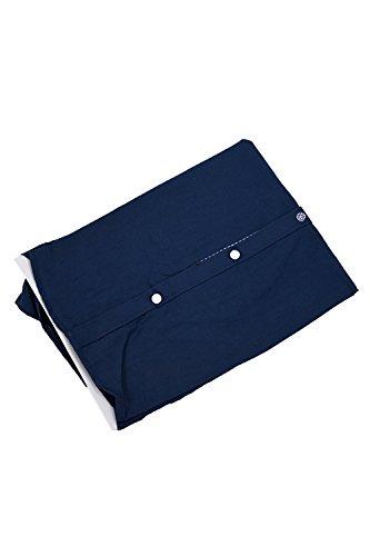 SODIAL(R) Mode Hommes Luxe Manche Longue Casual Mince Fit Tenu Elegante Chemises Bleu Fonce
